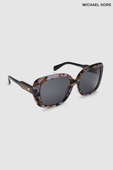 Michael Kors Black Gold Tortoise Klosters Sunglasses