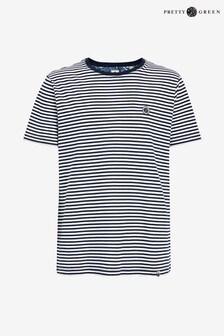 Pretty Green Blue Feeder Stripe T-Shirt