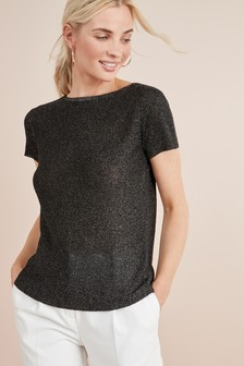 Sparkle Knot Back Top