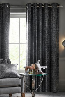 Metallic Embroidered Eyelet Curtains