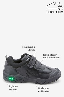 Double Strap Leather Light-Up Shoes (Older)