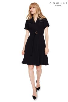 Damsel In A Dres Black Ennis Relaxed Trench Dress