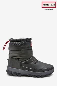 Hunter Womens Black Original Insulated Snow Boots