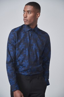 Regular Fit Floral Jacquard Shirt