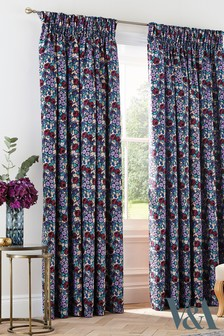 V&A Twilight Garden Pencil Pleat Curtains