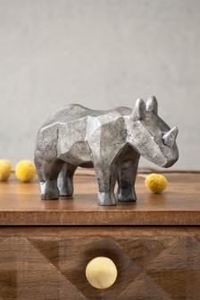 Faceted Rhino Ornament