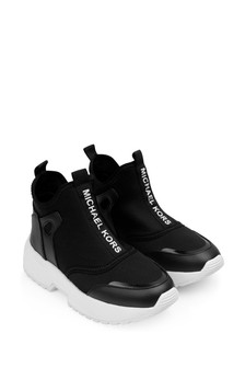 Girls Black Sock Trainers