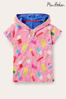 Boden Pink Fun Towelling Poncho