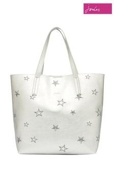 Joules Silver Cindy PU Shopper Bag