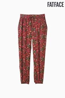 FatFace Red Alhambra Palms Cuffed Trouser