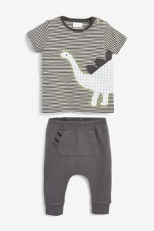 Dino T-Shirt And Leggings Set (0mths-2yrs)