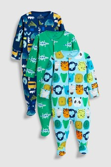 Multi Character Sleepsuits Three Pack (0mths-2yrs)