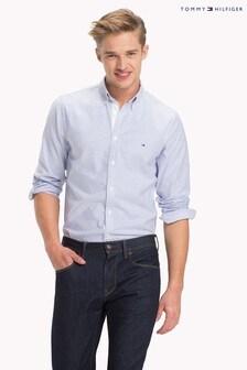 Tommy Hilfiger Blue Stripe Slim Oxford Shirt