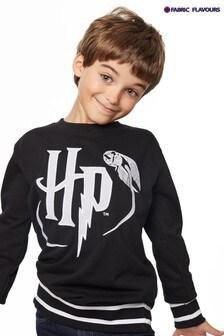 Fabric Flavours Black Harry Potter Badgeables Kids Sweatshirt