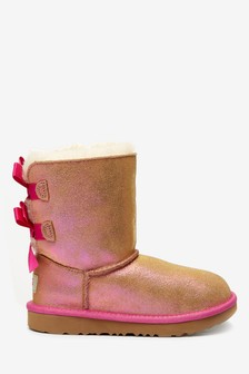 UGG® Kids Bailey Bow II Pink Shimmer Boots