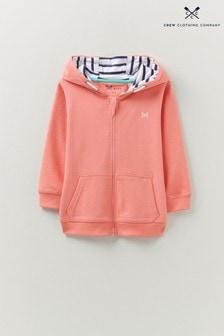 Crew Clothing Company Pink Zip Through Hoodie
