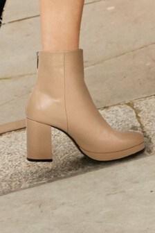 Signature Leather Platform Boots