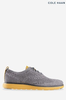 Cole Haan Grey Grand Stitchlite Wing Lace-Up Shoes