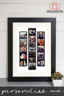 Personalised Photo Upload Strip Framed Print By Instajunction