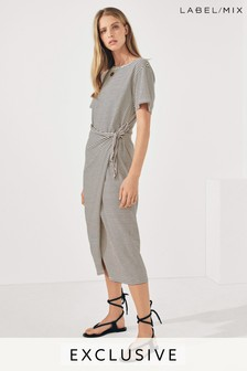 Next/Mix Tie Side Jersey Midi Dress