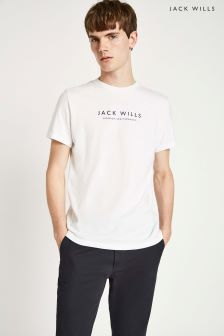 Jack Wills White Westmore Graphic T-Shirt