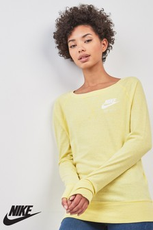 Nike Yellow Gym Vintage Crew