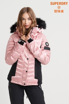 Superdry Pink Lux Snow Jacket