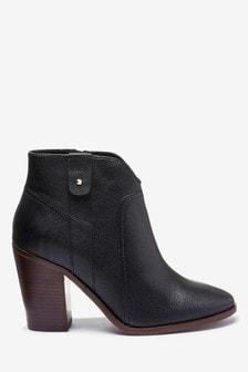 Signature Comfort Western Block Heel Ankle Boots