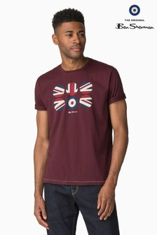 Ben Sherman Red Flag Circles T-Shirt
