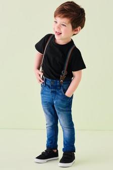 Rainbow Braced Jeans (3mths-7yrs)