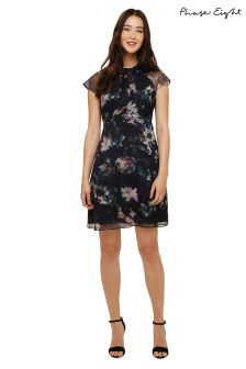 Phase Eight Black Multi Imogen Floral Print Dress
