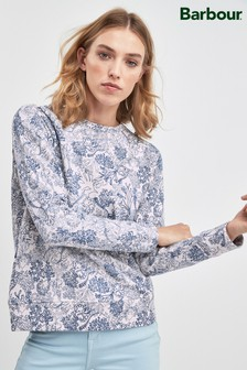 Barbour® Blue Coral Print Sweatshirt