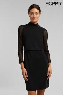 Esprit Black High Neck Dress