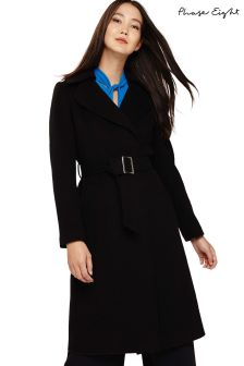 Phase Eight Black Eadie Belted Coat