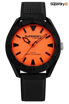 Superdry Black Silicone Watch