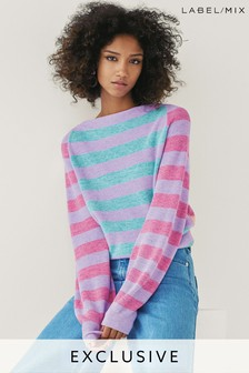 Next/Mix Mixed Stripe Jumper