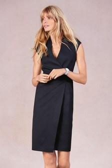Tailored Wrap Detail Dress