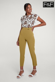 F&F Yellow Peg Trouser
