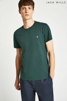 Jack Wills Dark Green Sandleford Basic Tee