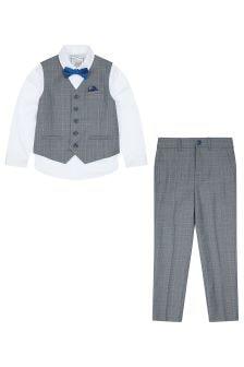 Monsoon Grey Zachary Complete Waistcoat Set