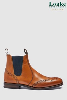 Loake Tan Calf Leather Hoskins Boot