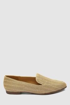 Raffia Almond Toe Loafers
