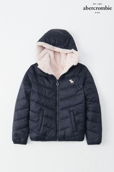 Abercrombie & Fitch Navy Padded Coat