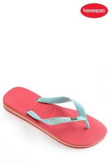 Havaianas® Women's Pink Brasil Logo Flip Flop
