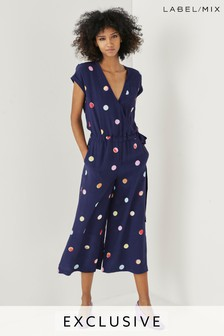 Next/Mix Polka Dot Jumpsuit