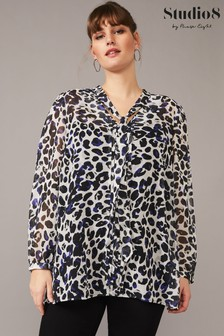 Studio 8 Cream Chloe Leopard Blouse