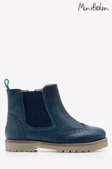 Boden Navy Leather Chelsea Boot