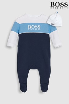 BOSS Baby Navy Sleepsuit And Hat Set