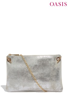 Oasis Pewter Leoni Clutch