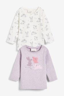 Confezione da 2 T-shirt con coniglietti (0 mesi - 2 anni)